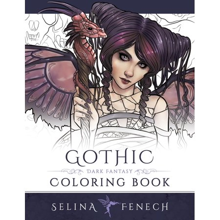 Fantasy Coloring by Selina: Gothic - Dark Fantasy Coloring Book (Paperback)
