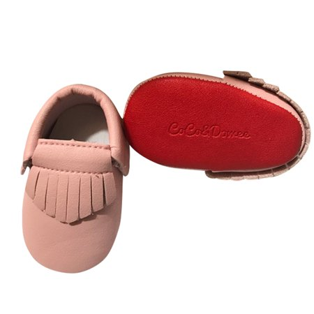 1c174e273b4 Baby Girls Pink Red Soft Sole Faux Leather Tassel Moccasin Crib Shoes 3-18M