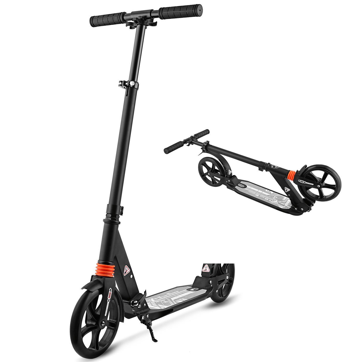 Clearance! Adult Teen Scooter Foldable Design Sturdy Poatable Lightweight Height Adjustable Aluminum Alloy T-Style