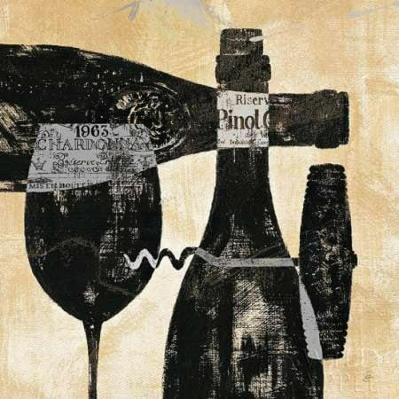 Posterazzi Wine Selection I Canvas Art - Daphne Brissonnet (24 x 24)