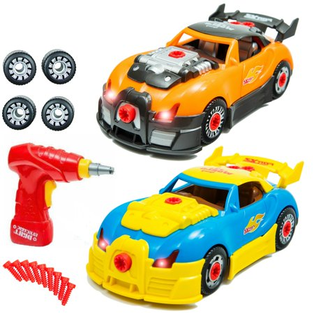 take apart car toys set for kids with 58 interchangeable take apart pieces build your