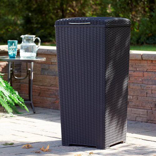 Keter Sunterrace 30-Gal Pacific Outdoor Waste Basket