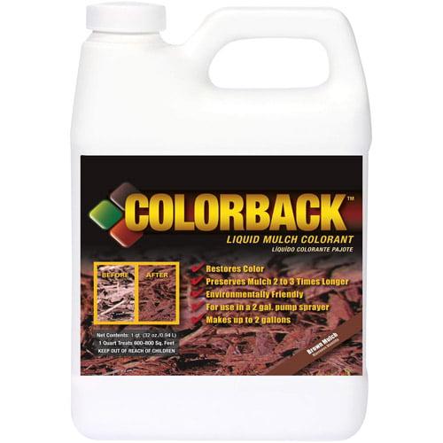 Colorback Liquid Mulch Colorant, 32 oz, Brown