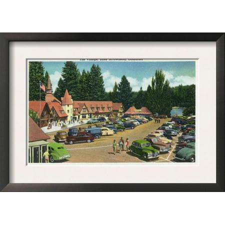 Lake Arrowhead, California - General View of the Village, c... Framed Art Print Wall Art
