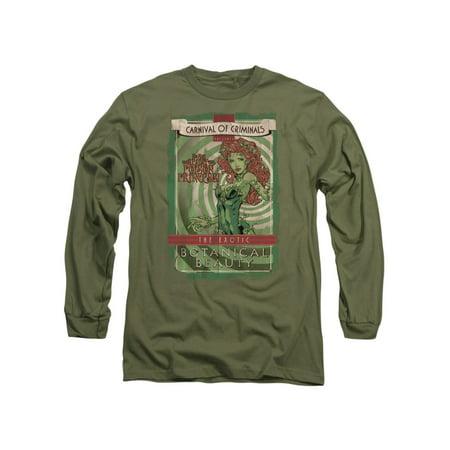 Batman DC Comics Poison Ivy Botanical Beauty Adult Long Sleeve T-Shirt Tee