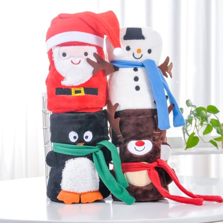 Snuggle Flannel - Christmas Baby Blanket Flannel Swaddle Snuggle Super-Soft Plush Bedding For Stroller Crib Cuddle 30