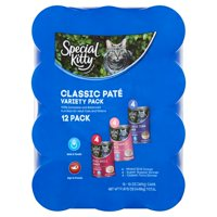Special Kitty Classic Pate Premium Cat Food Variety Pack, 13 oz, 12 count