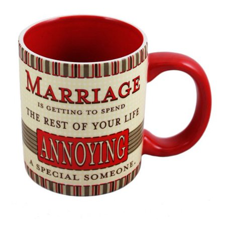 Russ Berrie Ceramic - Love and Marriage Mug by Russ Berrie
