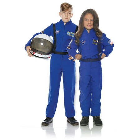 Astronaut Blue Child Outer Space Explorer Costume Flight - Explorer Costume Kids