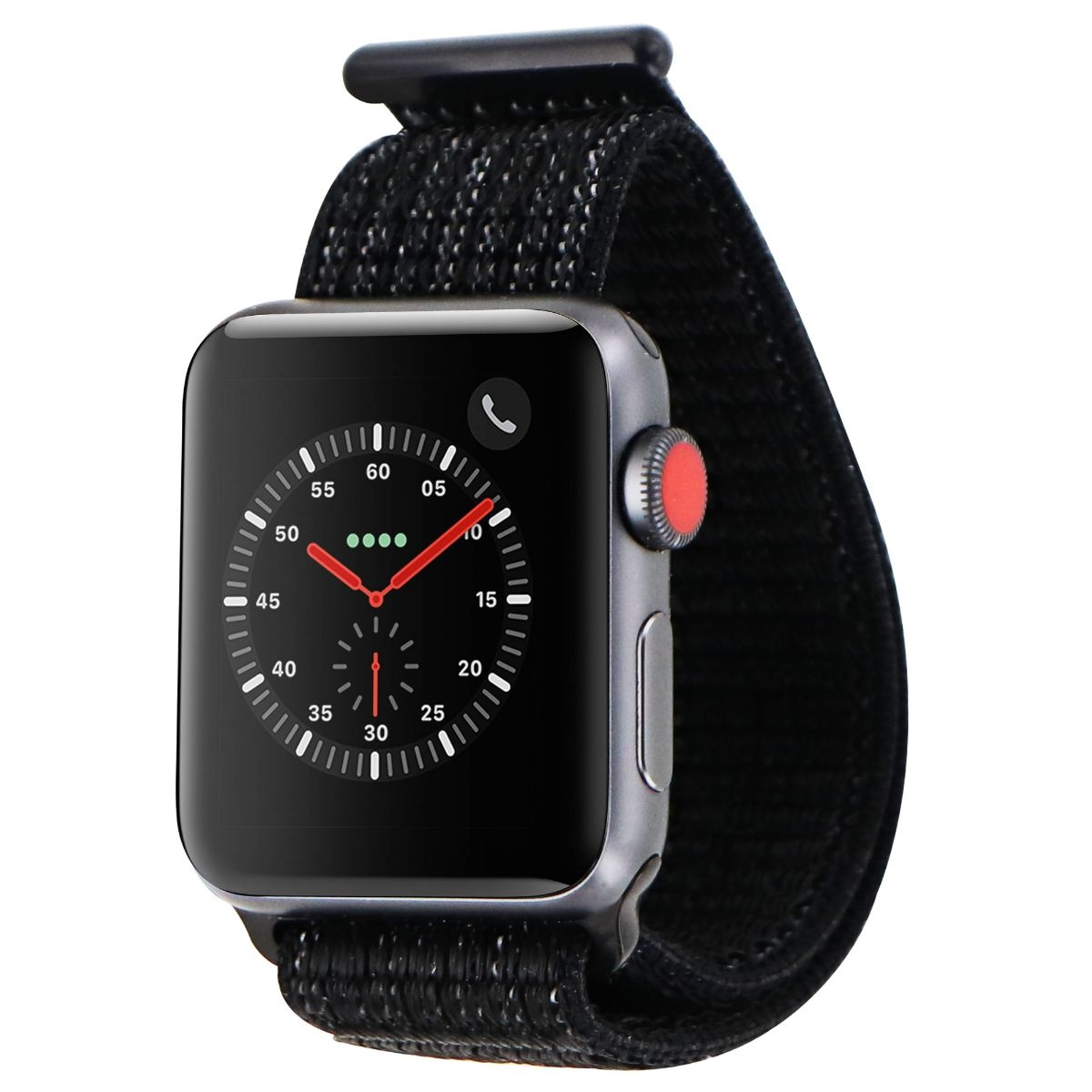 check out c49db aeba8 Apple Watch Nike+ Series 3 (GPS + LTE) 38mm Space Gray Aluminum Case Black  Loop (Refurbished)