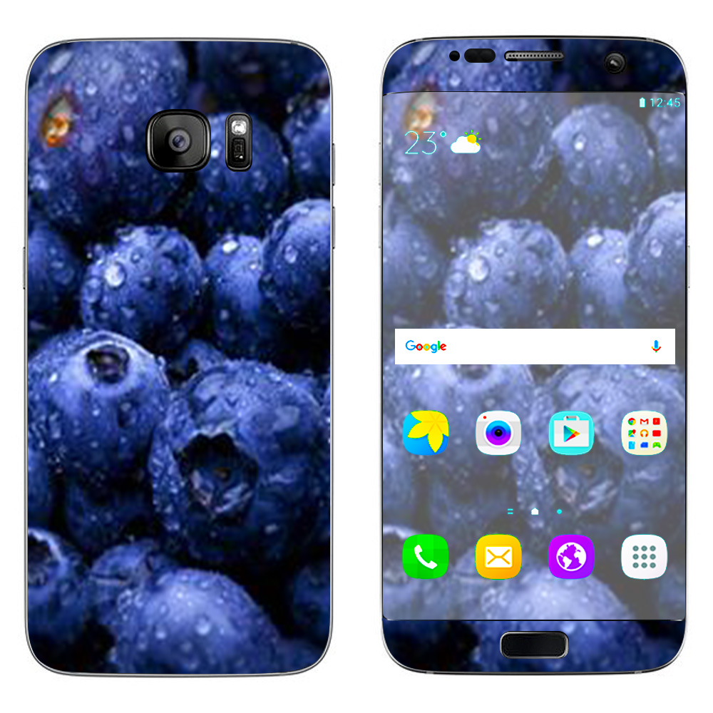 Skins Decals For Samsung Galaxy S7 Edge / Blueberry, Blue Berries