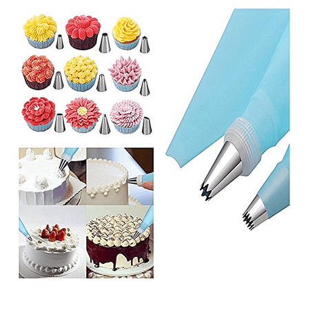 24 Dispensers - FeelGlad 31 Cake Decorating Tools Kit With 24 Icing Dispensers 2 Silicone Pastry Bags, 2 Reusable Couplers,1 Cleaning Brush,1 Cake Decorating Pen Baking Tool