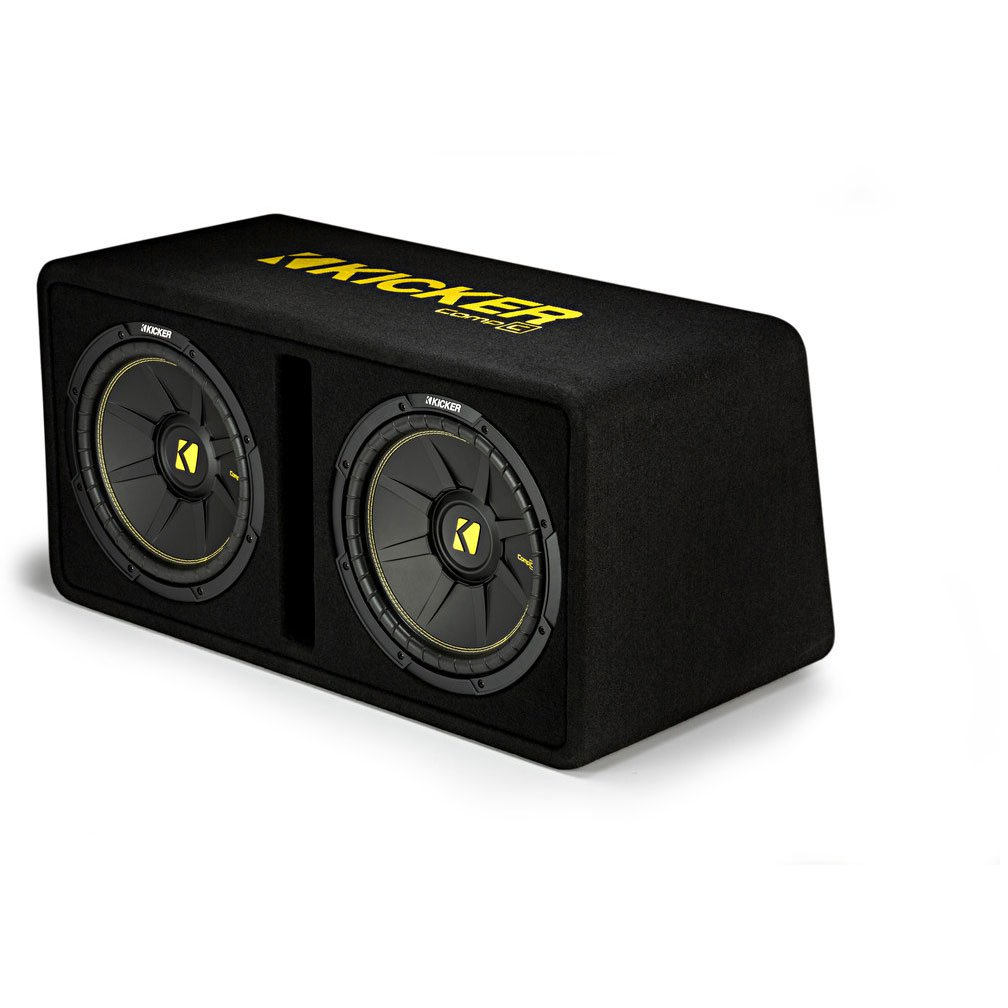 Kicker CompC Dual 12-Inch Subwoofer Enclosure Box Case (Certified Refurbished)