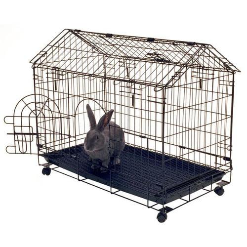 Tucker Murphy Pet Jeff Bunny House 4-Wheel Rabbit Cage