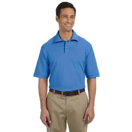 100% Cotton Pique Polo (Jerzees 440 Polo Shirt Men's Short Sleeve 6.5 oz Cotton Pique)