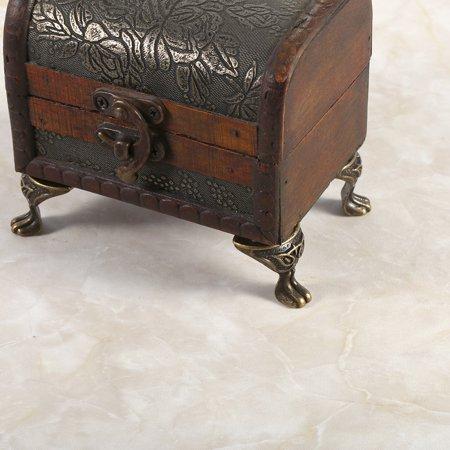 Greensen 4Pcs Antique Brass Jewelry Gift Box Wood Case Decorative Feet Legs Corner Protector Vintage, Brass Corner Protector, Wood Box Brass Corner Protector - image 2 de 9
