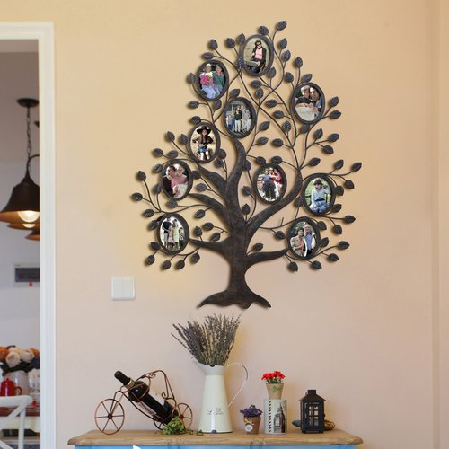 Red Barrel Studio Myrasol 10 Opening Decorative Family Tree Wall