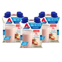Atkins Gluten Free Protein-Rich Shake, Strawberry, Keto Friendly, 12 Count (Ready to Drink)