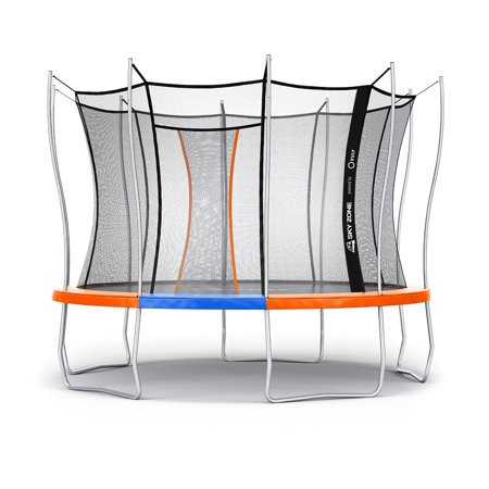 Official Sky Zone x Vuly 12-Foot Trampoline with Self-Closing Door (Orange)