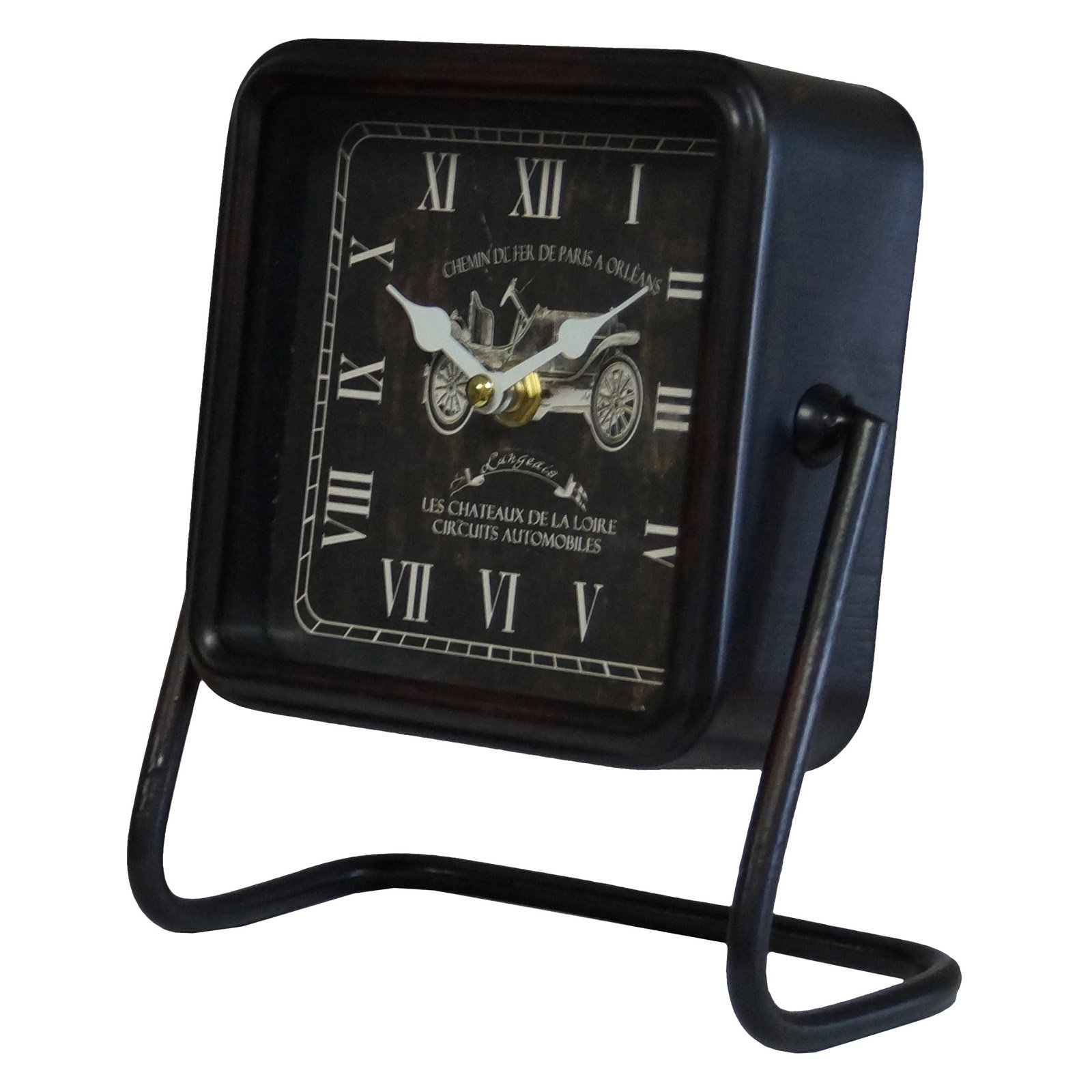 VIP International Square Table Clock  -  Black