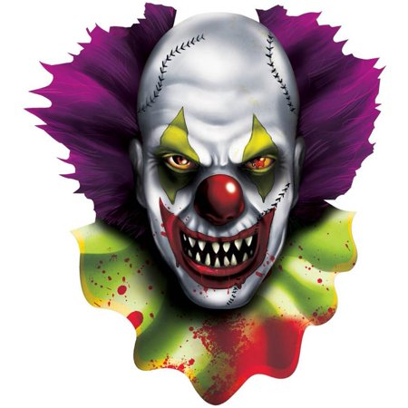 CREEPY CARNIVAL CLOWN CUTOUT - Carnival Cutouts