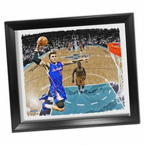 Los Angeles Clippers Blake Griffin Dunk Framed Stretched 22x26 Canvas