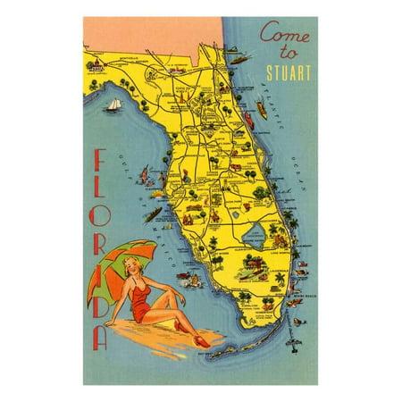 Come to Stuart, Florida Print Wall Art