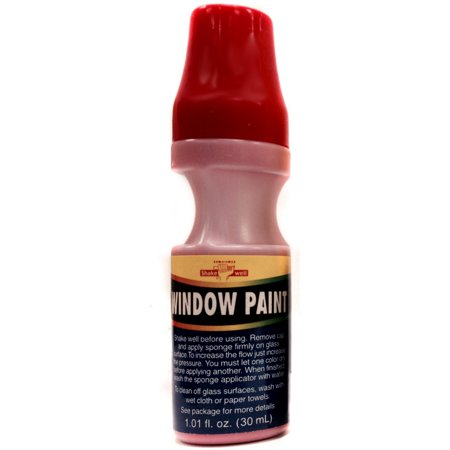 Red School Colors House Car Water Washable Window Paint](Washable Car Window Paint)