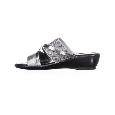 Easy Street Palazzo Slip On Strappy Sandals, Silver - image 2 de 6