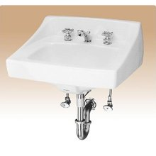 Toto Wall Mount Vitreous China Bathroom Sink LT307.4#01 Cotton White
