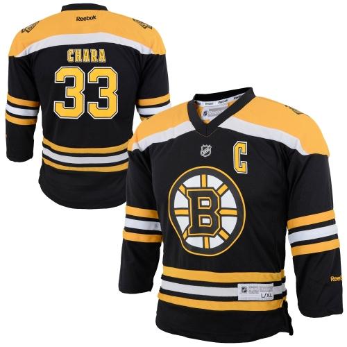 Zdeno Chara Boston Bruins Reebok Youth Replica Player Hockey Jersey Black L XL by Outerstuff