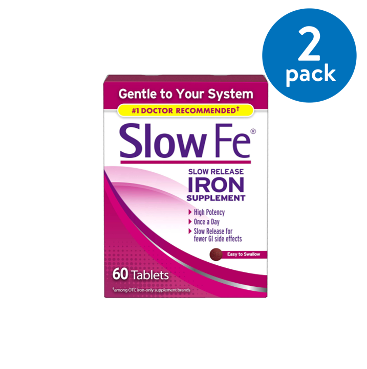 Slow Fe Iron Tablets, 45mg, 60 ct
