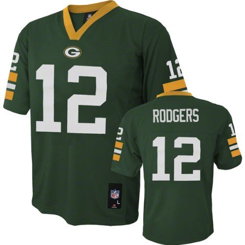 Outerstuff Green Bay Packers Aaron Rodgers Green Youth NF...