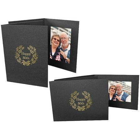 Happy 50th Event 4x6 Horizontal Photo Folders (25 Pack)