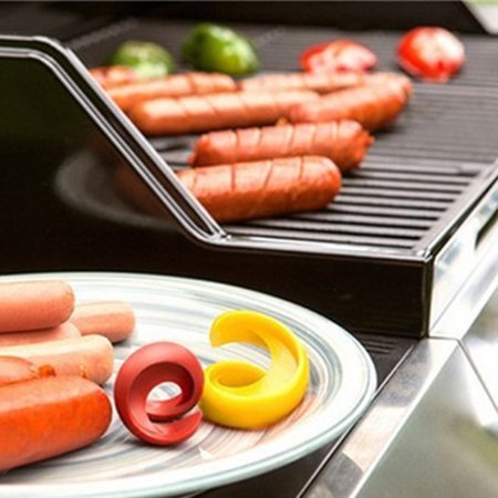 Holiday Clearance 2pcs Fancy Sausage Cutter Spiral Barbecue Hot Dogs Cutter Slicer Kitchen Cutting (Best Way To Bbq Hot Dogs)