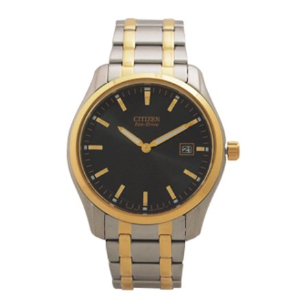 (AU1044-58E Eco-Drive Two-Tone Stainless Steel Bracelet Watch Citizen 1 Pc Watch Men)