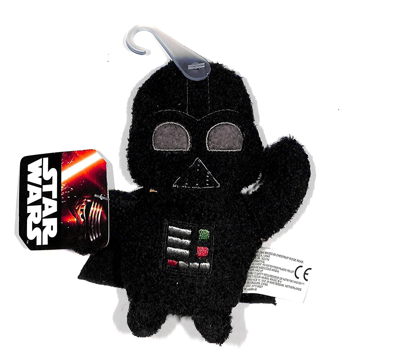 "Star Wars The Force Awakens Darth Vader 4"" Plush Footzeez Comic Images Ep 7"