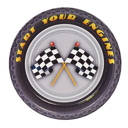 Racecar Racing Party Dessert Plates](Race Car Plates)