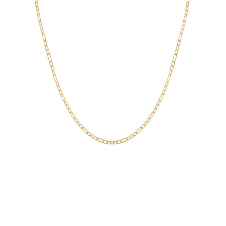 - 10K Yellow Gold Figaro Chain, 18
