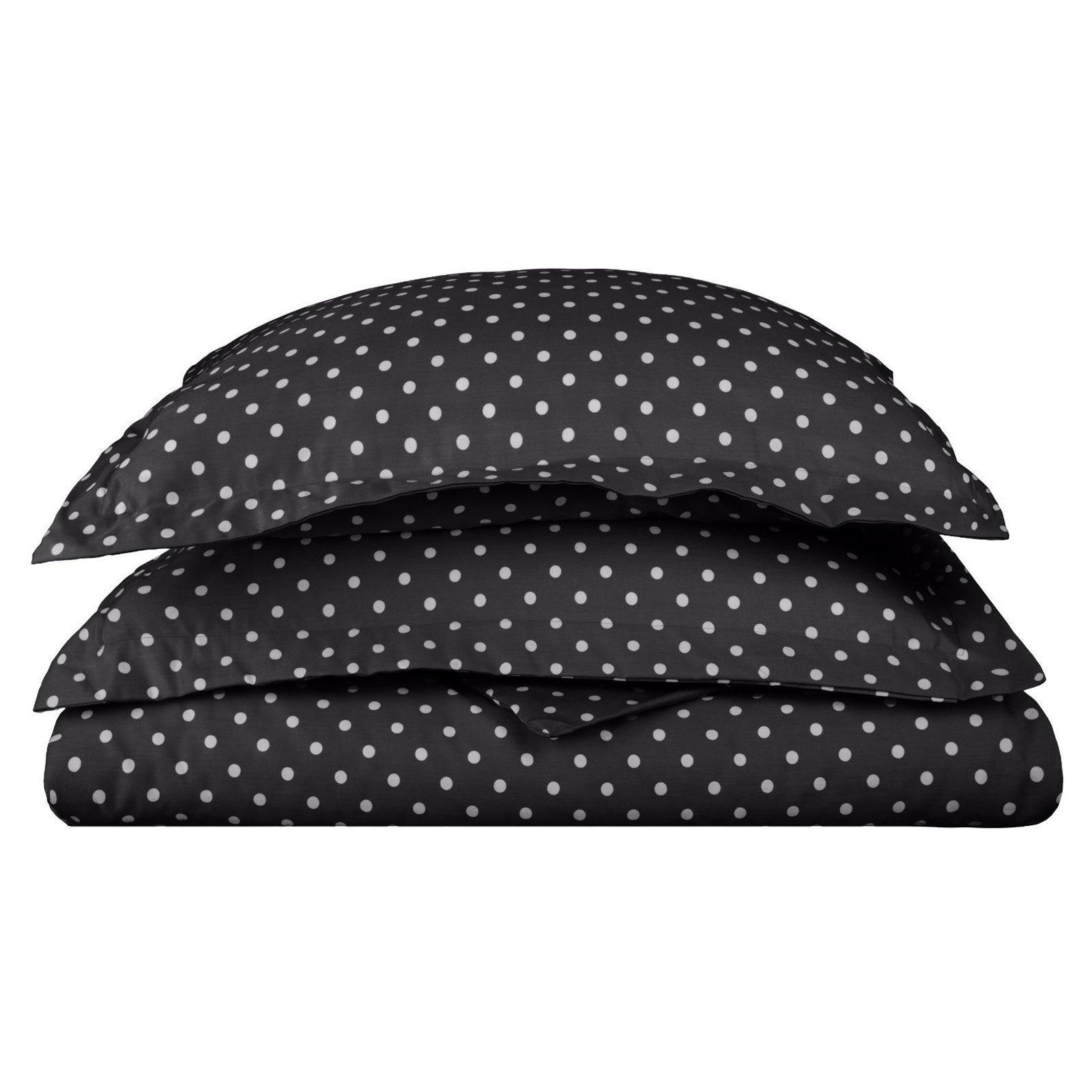 Superior 600 Thread Count Wrinkle Resistant Polka Dots Duvet Cover Set