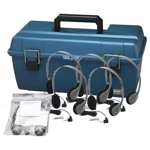 Hamilton Buhl Personal Headset Lab Pack with Carry Case