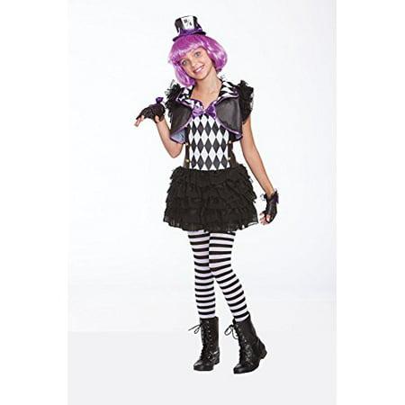 Halloween Wholesalers Hatter Madness Girls Costume (Black & White) - Madness Costumes