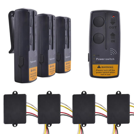4X 65' 12V Winch Wireless Remote Control Switch Kit For Car ATV SUV UTV (Atv Trailer Design)