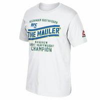 "Alexander Gustafsson UFC Reebok White ""The Mauler"" Graphic Print T-Shirt For Men"