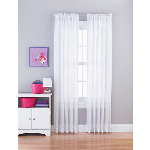 Your Zone Sequin Stripe Girls Bedroom Curtain Panel
