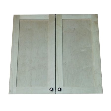 Wg Wood Products Freeport 28 Inch High Recessed Double Door Medicine Cabinet