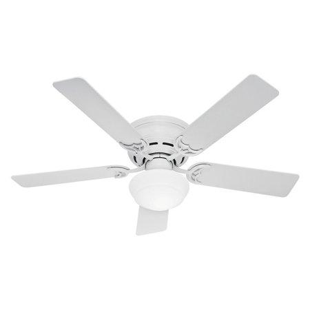 Hunter Low Profile III Plus 52 in. Indoor Ceiling Fan with Light ...