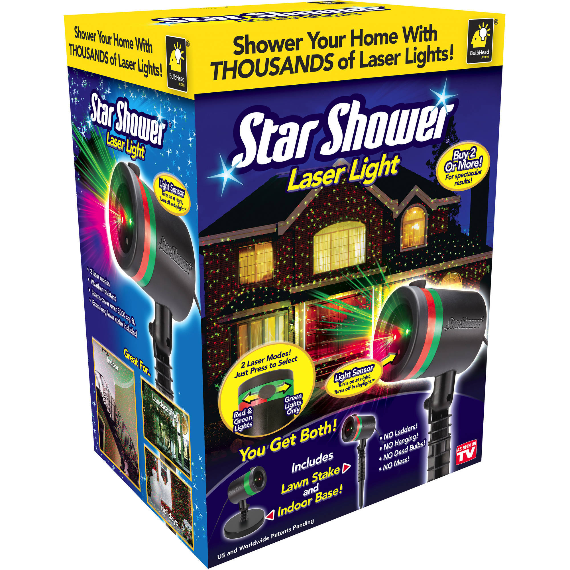 As Seen On TV Outdoor Light Decoration Star Shower Laser Light Show Holiday Lights!