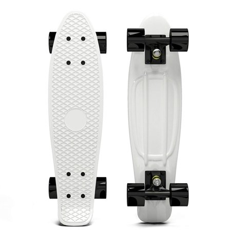 Penny Style Cruiser 27 Inch Board Plastic Retro Mini Skateboard Complete  White