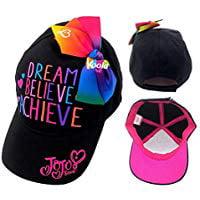0b834ef0744b8 ABG - JOJO SIWA New Bow Hat Girls Black Rainbow Cap Sunhat Dream ...